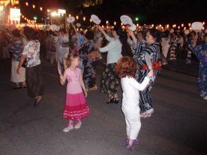 Dancing at the O-bon festival in Tokyo